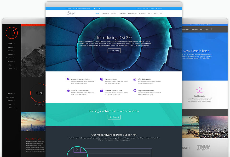 This site is built on Divi